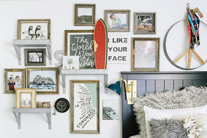 small space tips: gallery wall