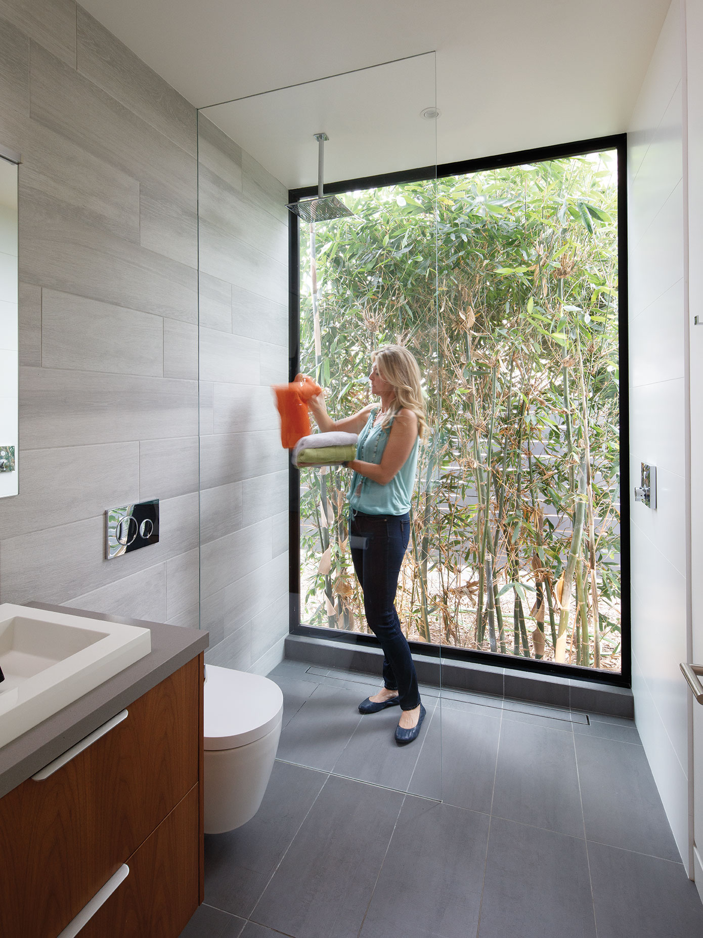 green home design LEED sustainable bathroom bamboo