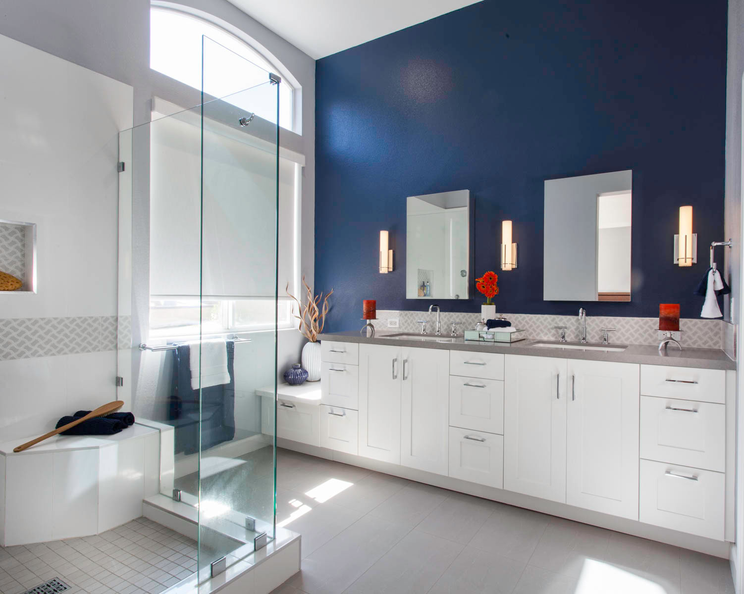 2019 Reader's Choice Bathroom of the Year blue wall paint