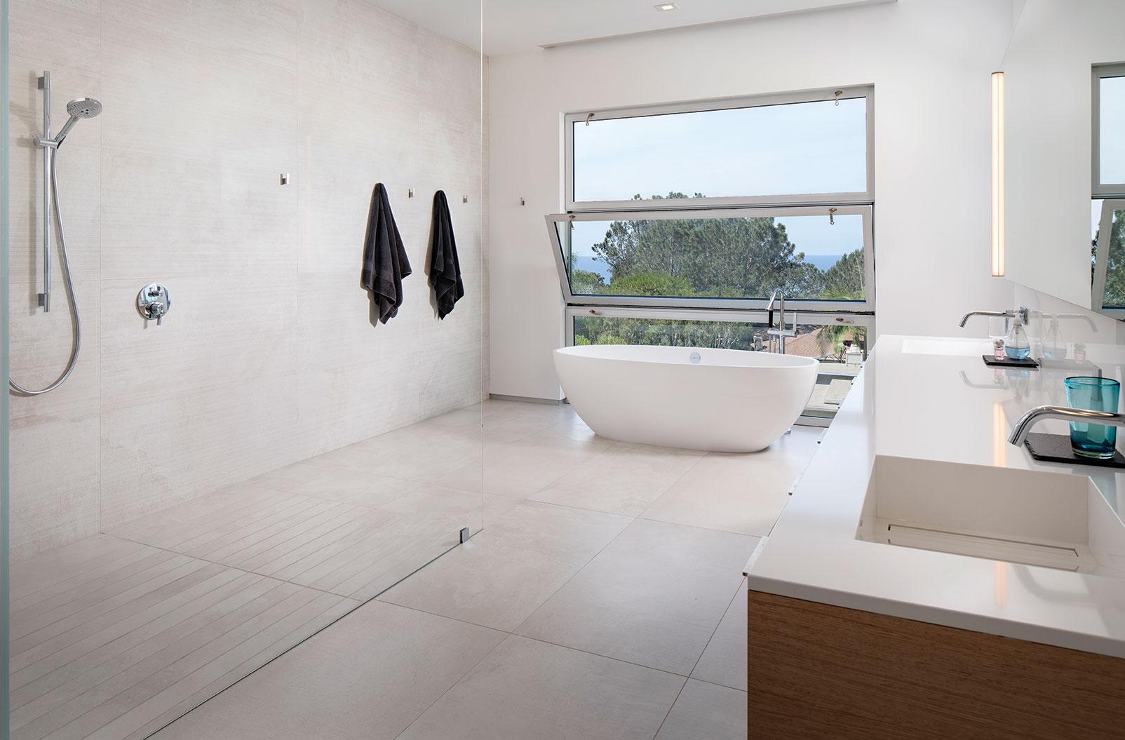 open living open floor plan san diego bathroom master soaking tub