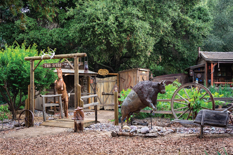 garden motif San Diego wild west theme