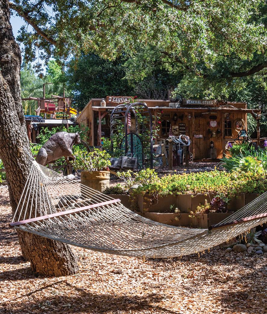 garden motif hammock creative shed garden storage workshop wild west western