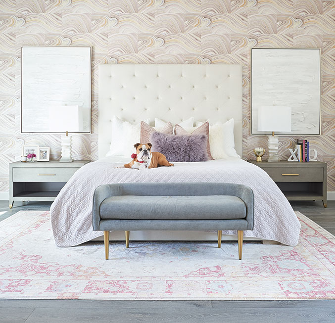 jaki yermian pink master bedroom english bulldog