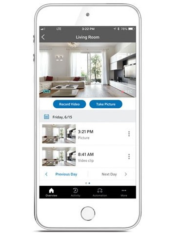 smart home tech cox app monitoring camera