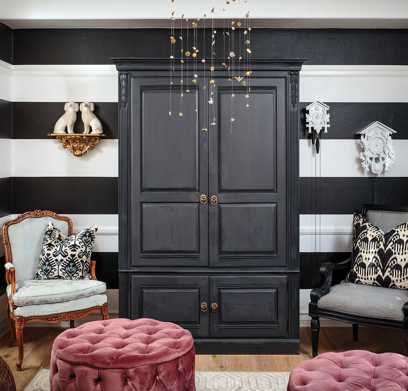 playroom transformation vintage black and white toy room storage