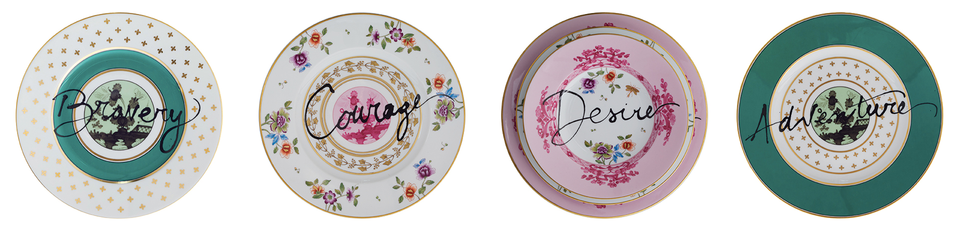vintage tableware plates artemest road to heave is paved with excess collection zodiac design