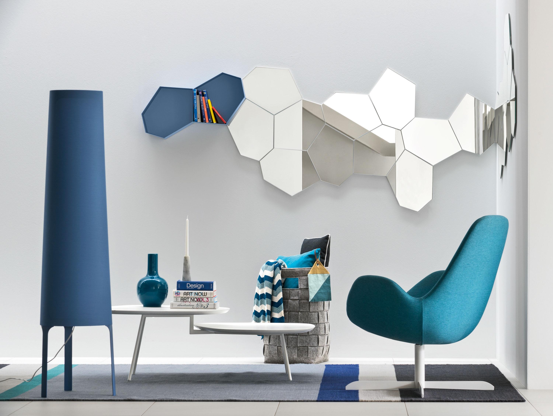 Aquarius zodiac design modular shelving calligaris blue living room modern