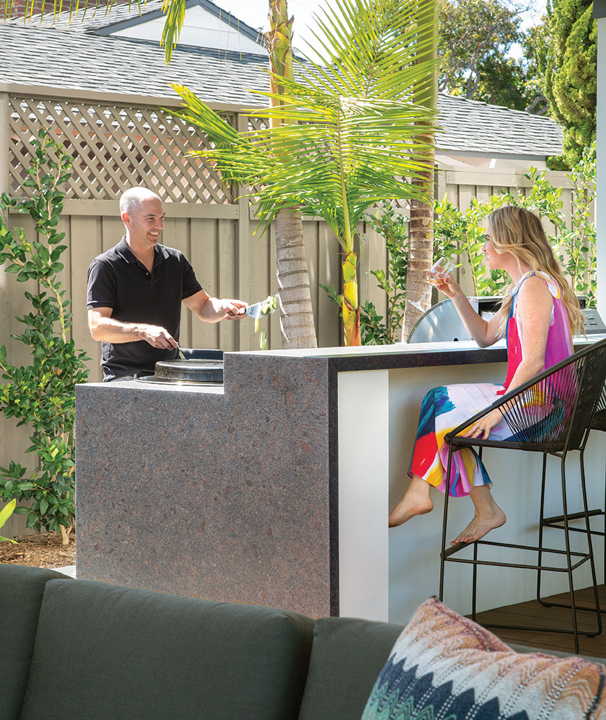 Evo flat top grill outdoor kitchen contemporary modern family home