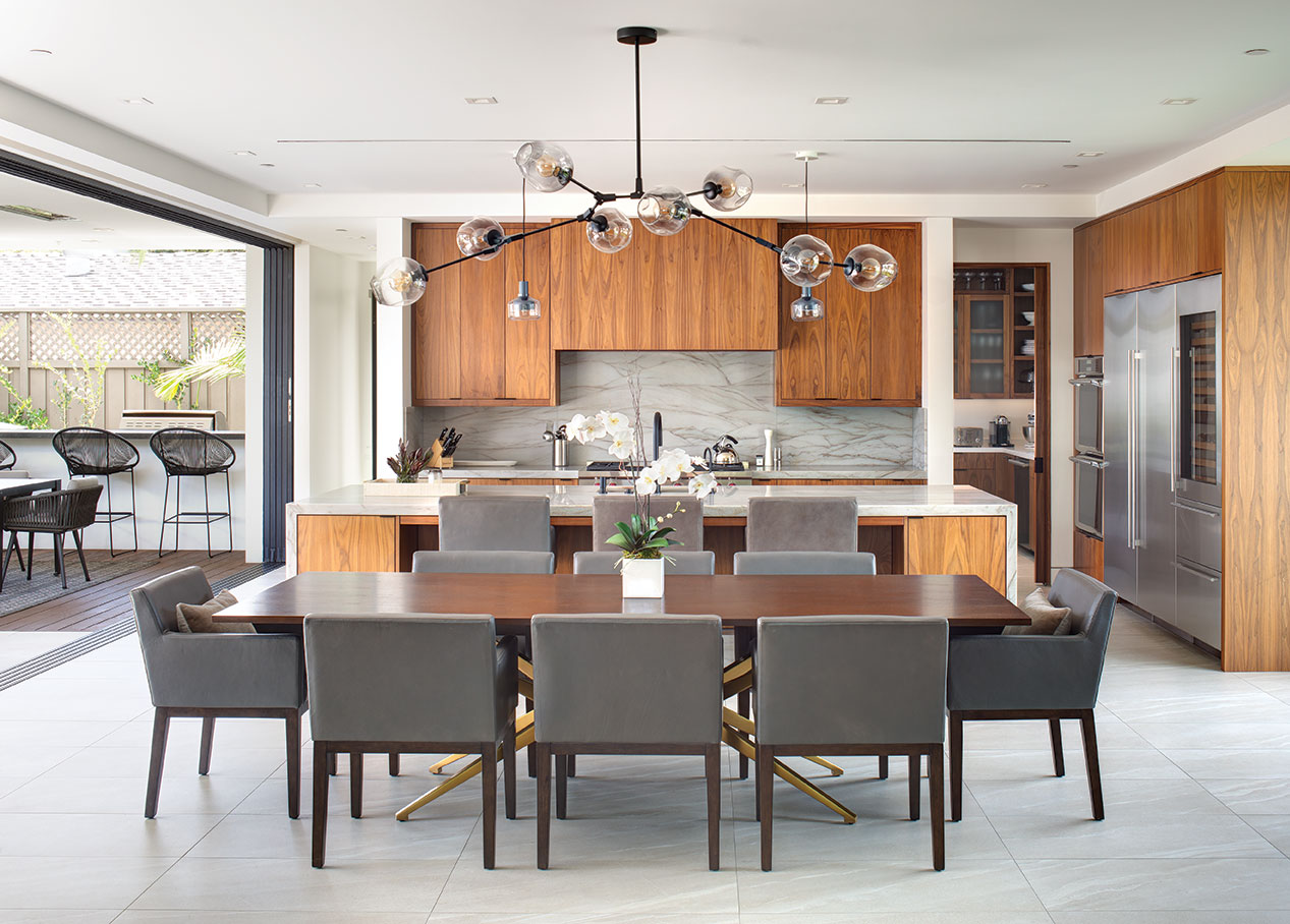 open floor plan modern family home dining kitchen dirty kitchen