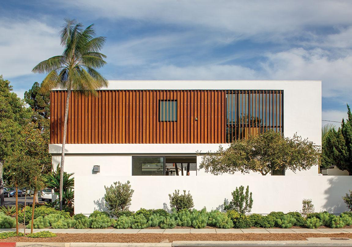 modern family home Brazilian hardwood sapele coronado san diego