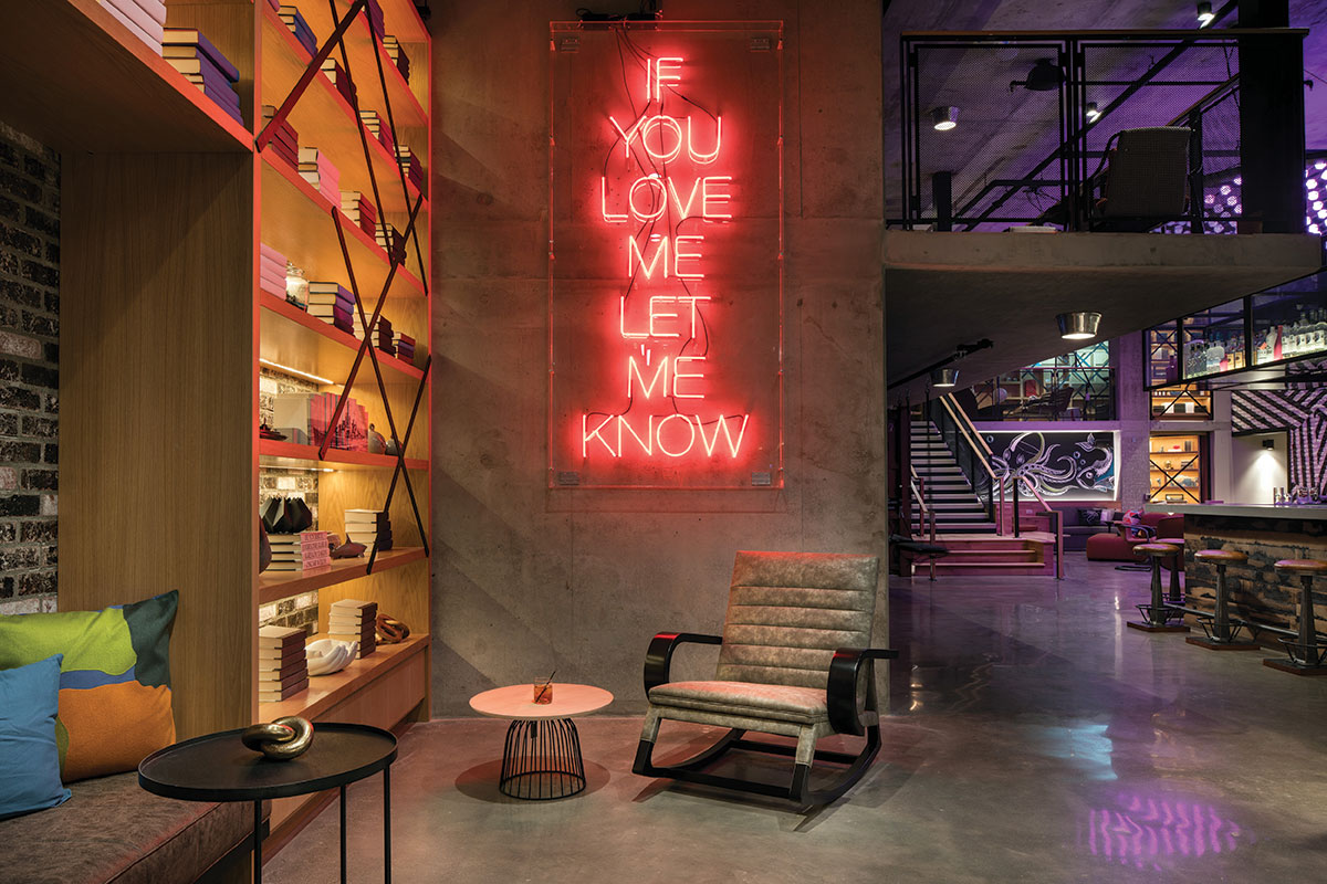 moxy san diego if you love me let me know neon light hotel design