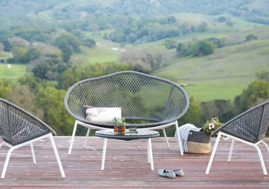 scandinavian designs outdoor furniture inula loveseat