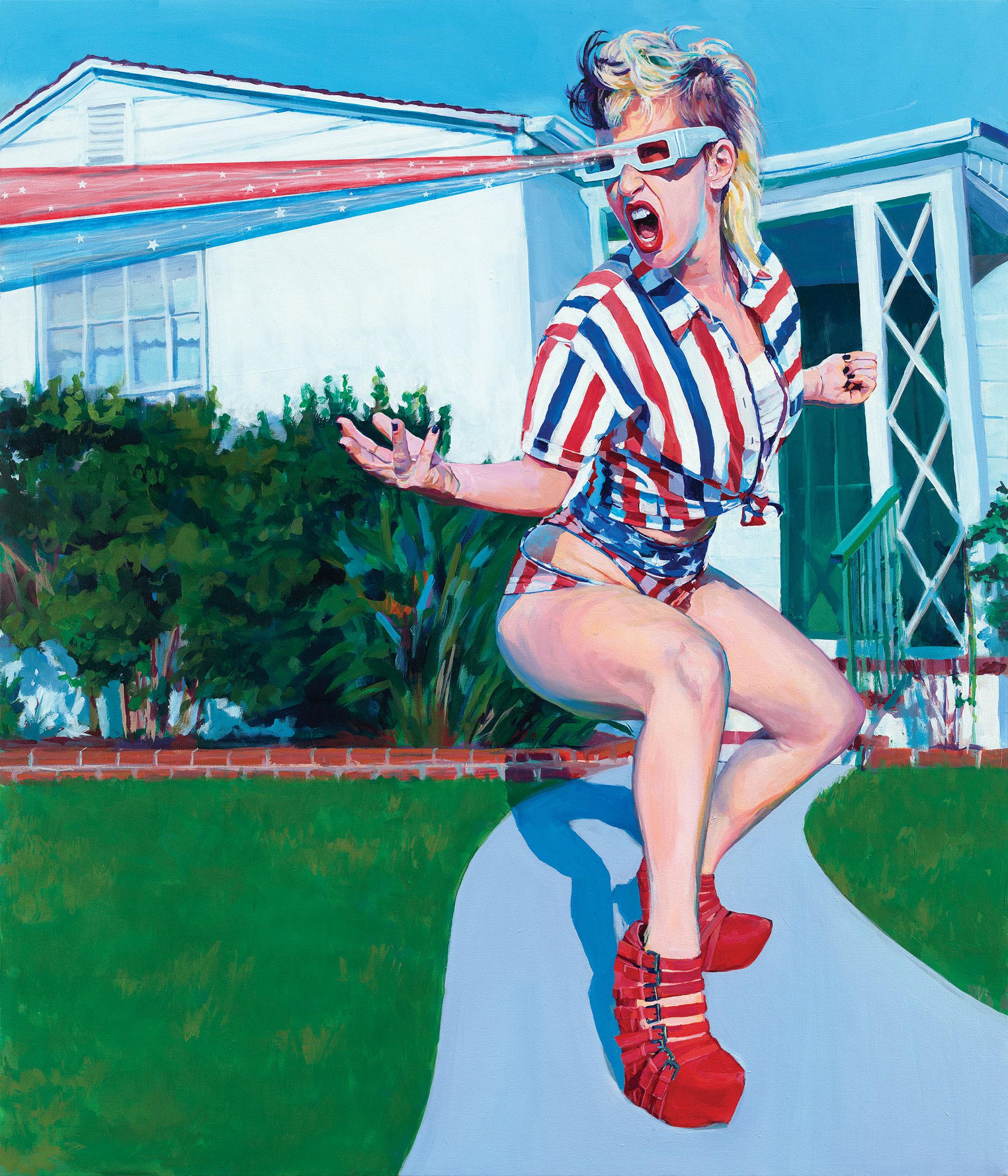 "sarah stieber painting ""american dream"" elena skidmore inspiration san diego"