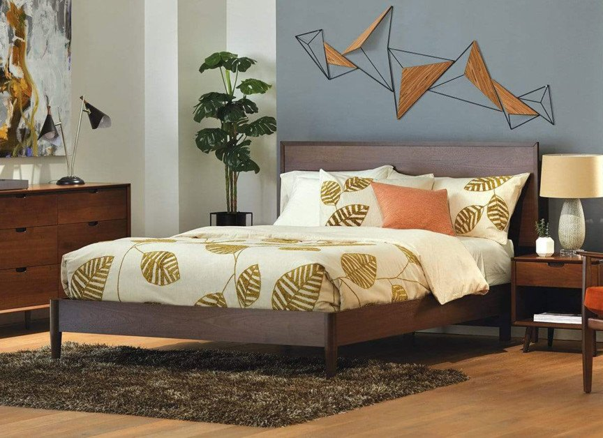 scandinavian designs juneau panel bed midcentury modern