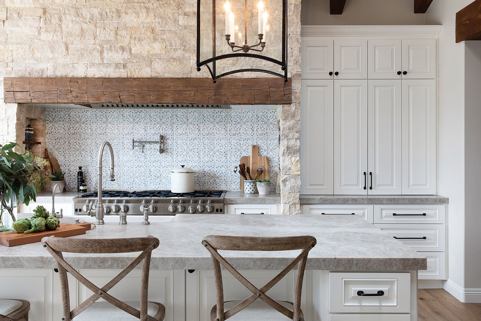 hand painted tile anne rae design kitchen in poway san diego