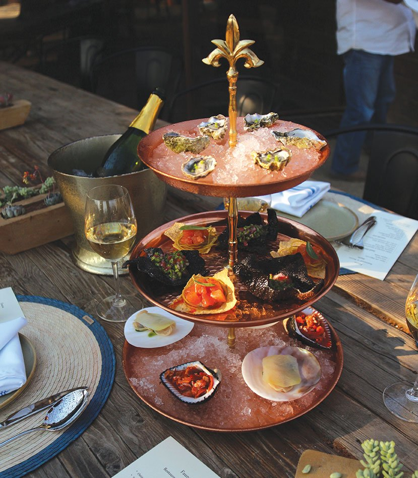 Fauna Restaurante valle de guadalupe seafood tower baja mexico bruma travel dining