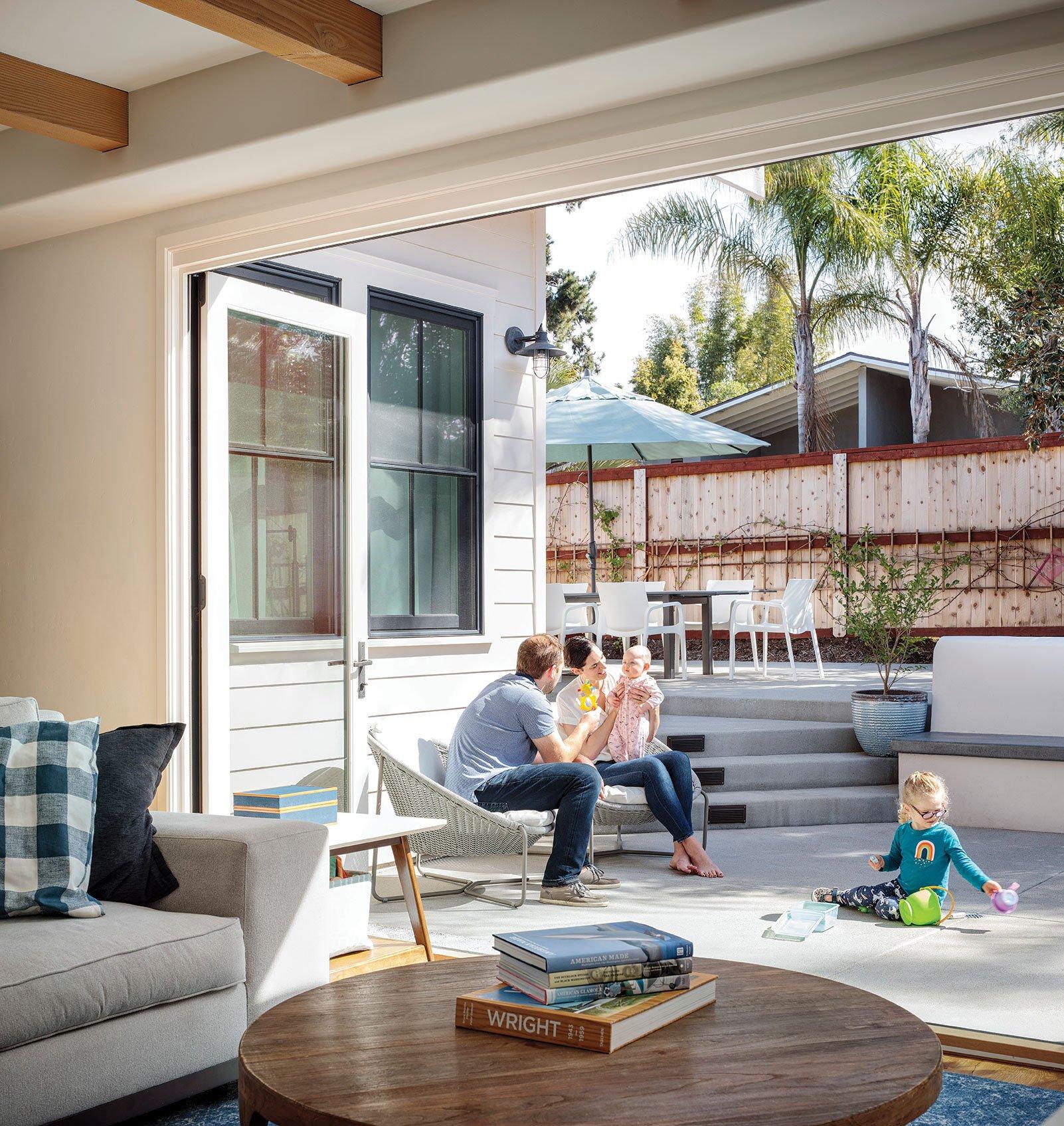 indoor outdoor living cantilevered doors