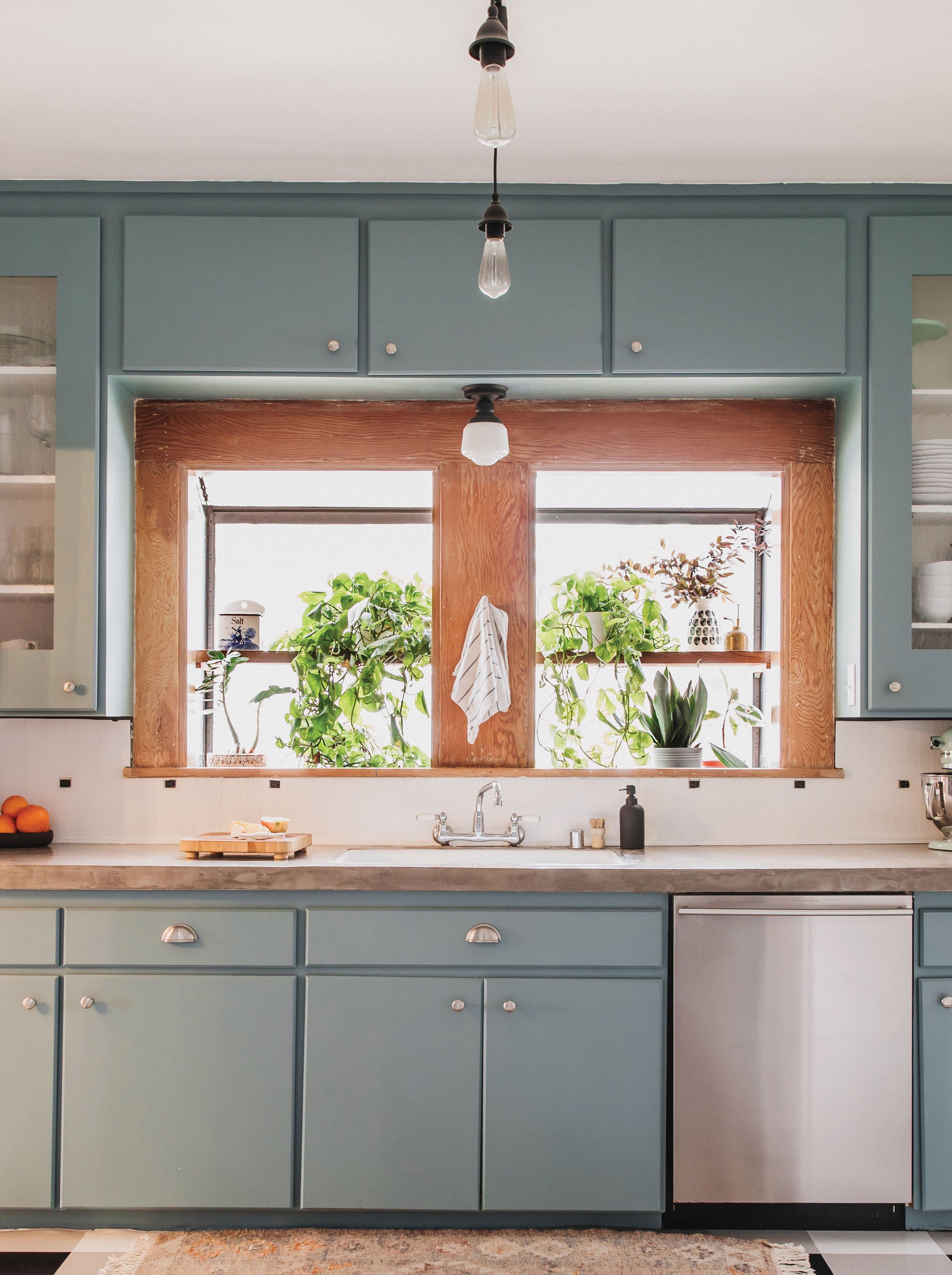 DIY kitchen changes fresh lighting