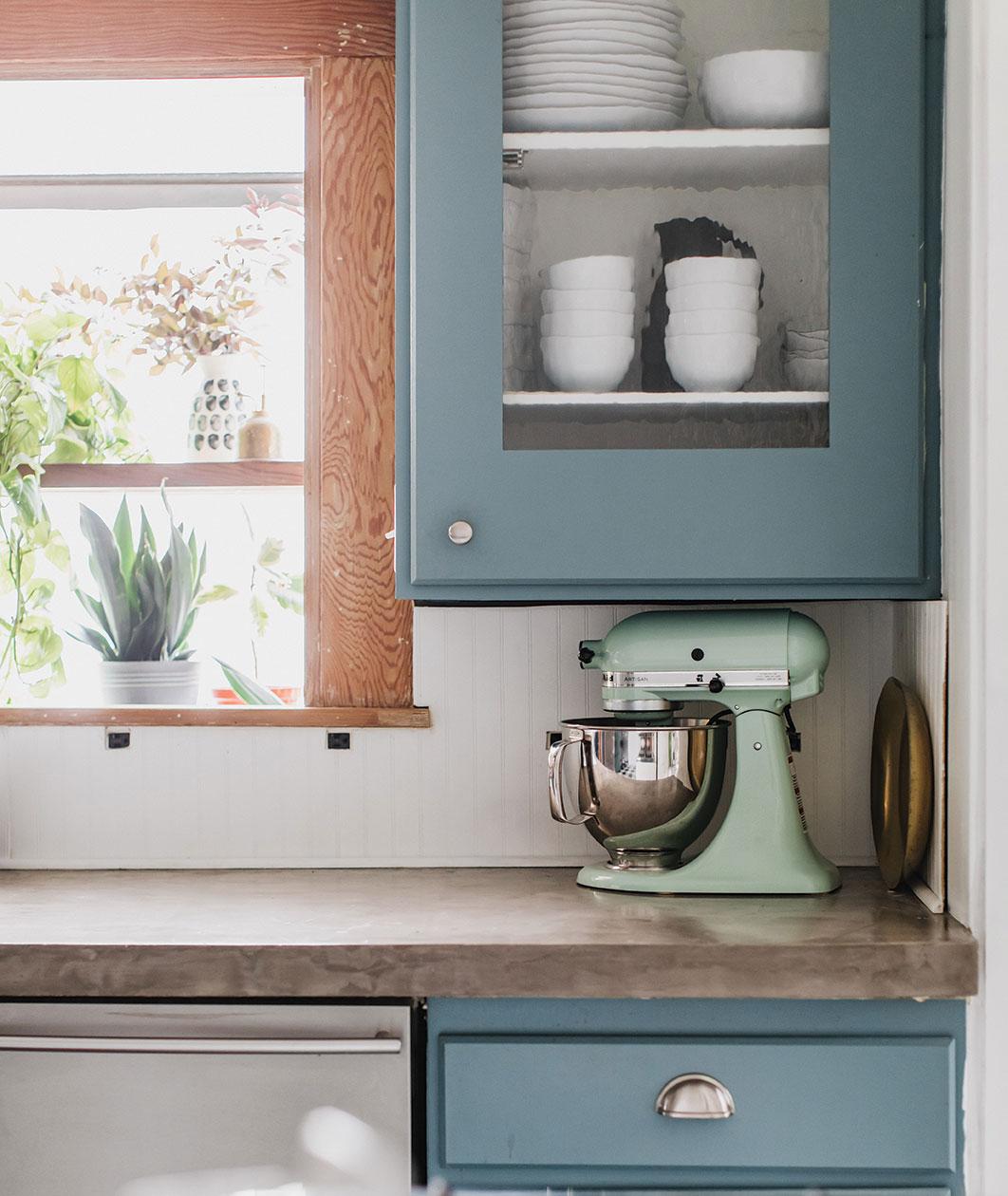 DIY kitchen changes Ashley Goldman thegoldhive.com kitchen countertops concrete
