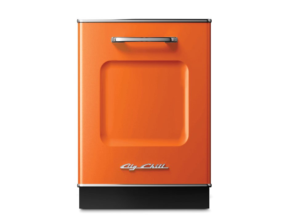 big chill dishwasher orange statement appliances