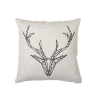 scandinavian designs deer pillow