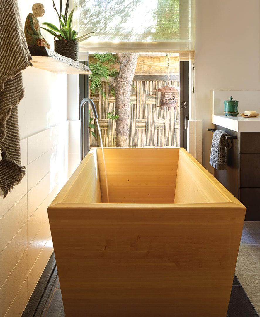 zen bathroom asian japanese ofuru soaking tub cedar
