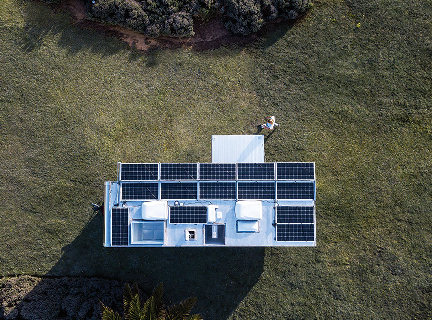solar trailer living vehicle tiny house trailer