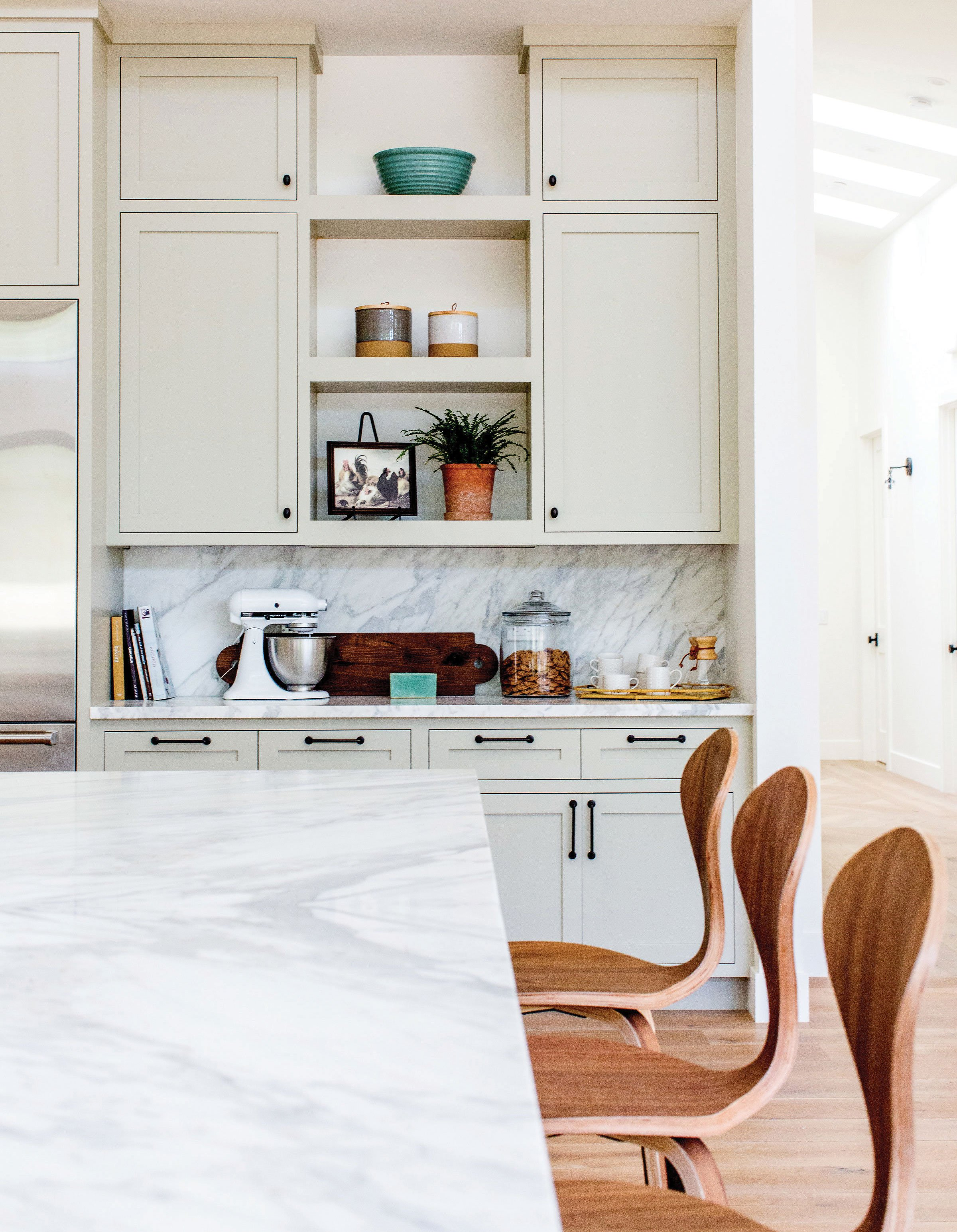 modern farmhouse kitchen gray dusty green cabinets