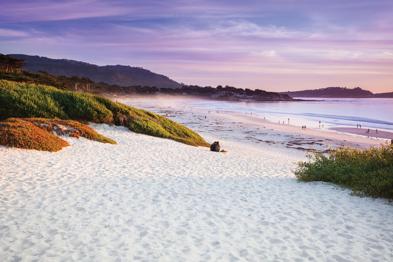 carmel beach california carmel-by-the-sea sunset