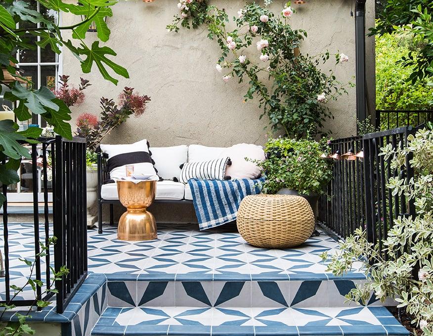 outdoor tile emily henderson granada tile patio