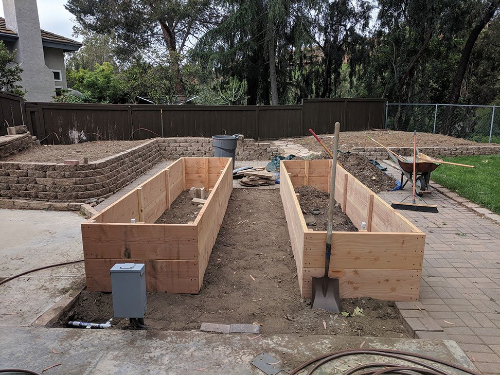 building raised beds out of douglas fir