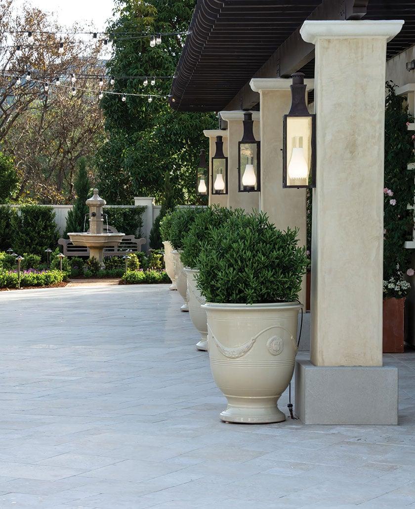 formal garden san diego columns and url planters