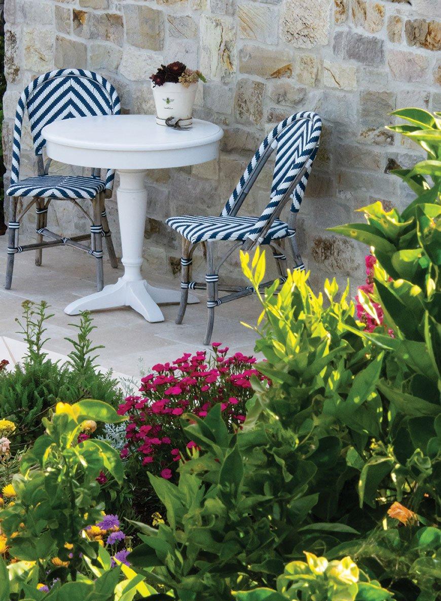 formal garden san diego bistro table