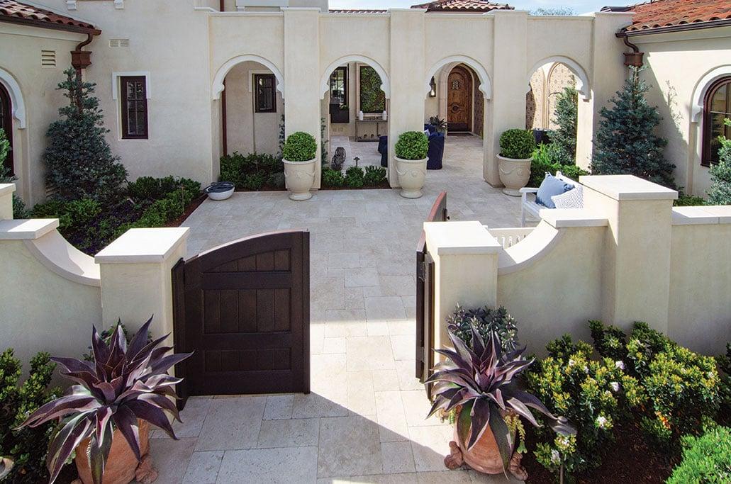 formal garden san diego courtyard