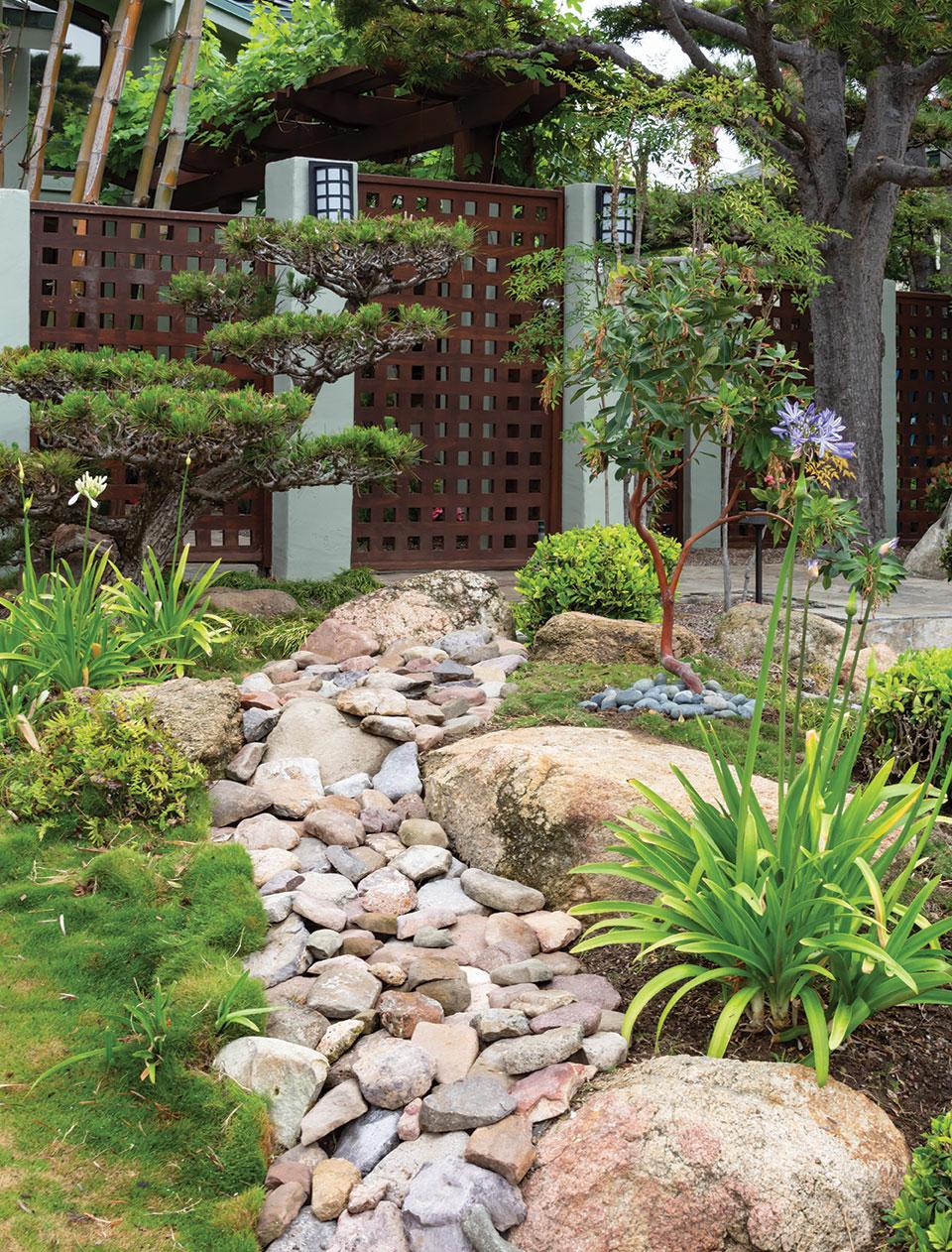 zen landscape japanese garden san diego dry rock bed