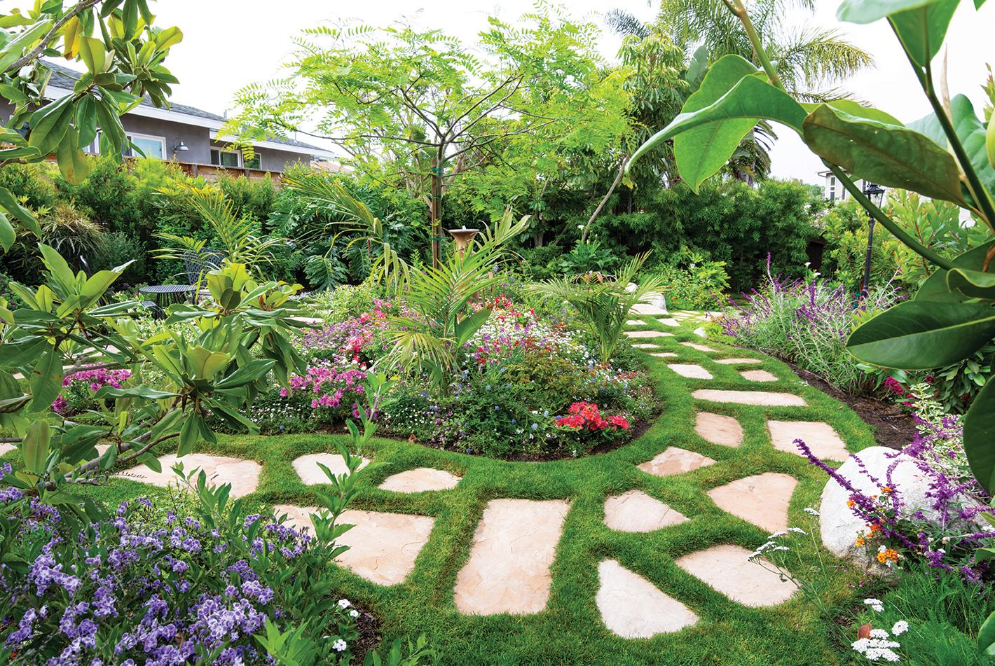 cottage garden irish moss flagstone pavers