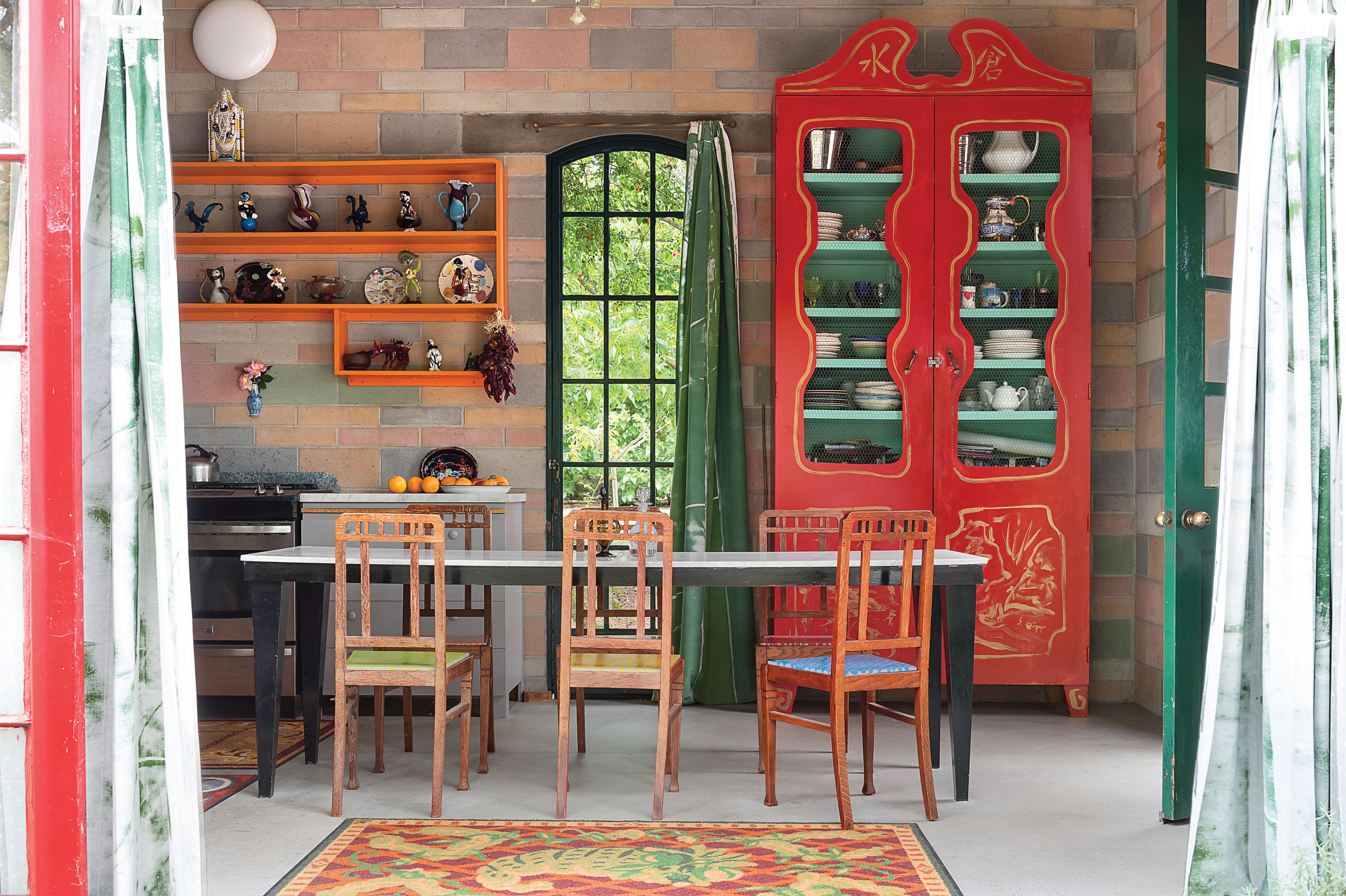jean lowe and kim macconnel artists art san diego home kitchen salvaged wood