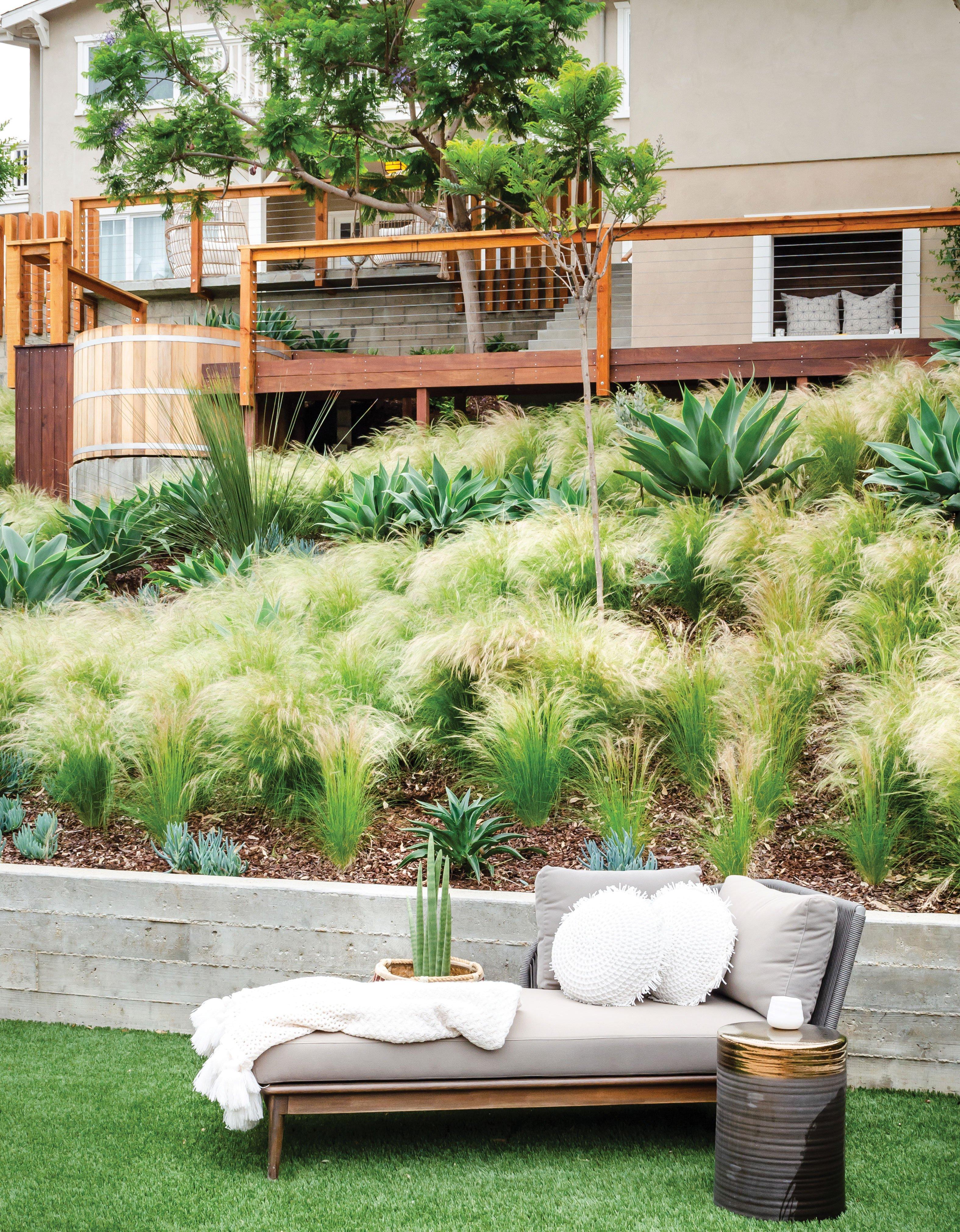 lounge chair tiered garden tiers terrace