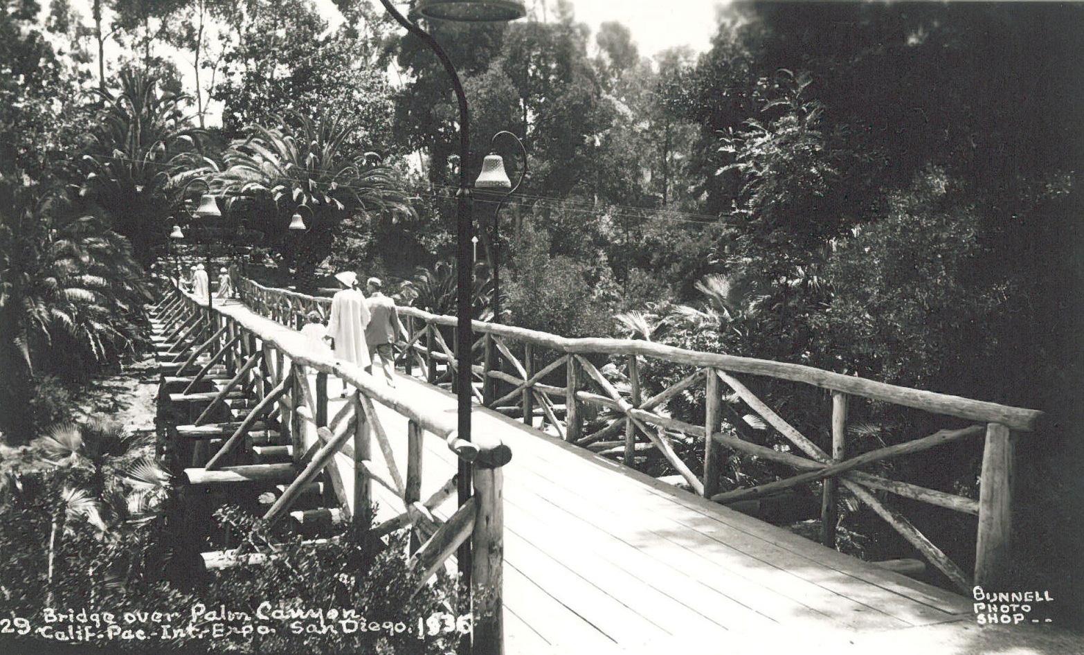 Palm Canyon footbridge