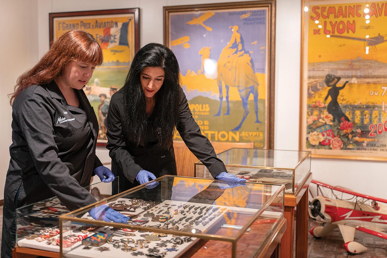 melanie dellas karen lacy san diego museum of man preservation WWII medals world war 2