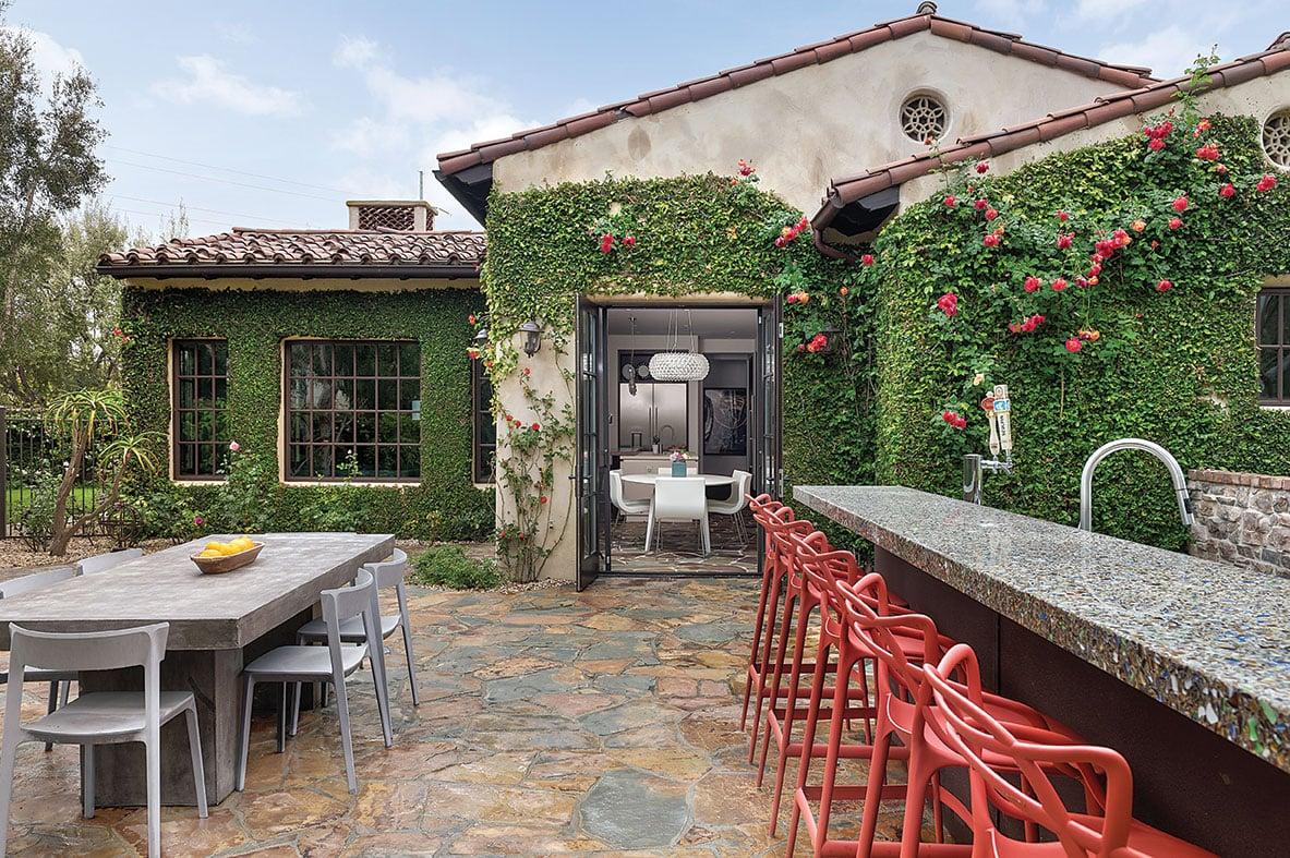 tuscan contemporary garden home rancho santa fe