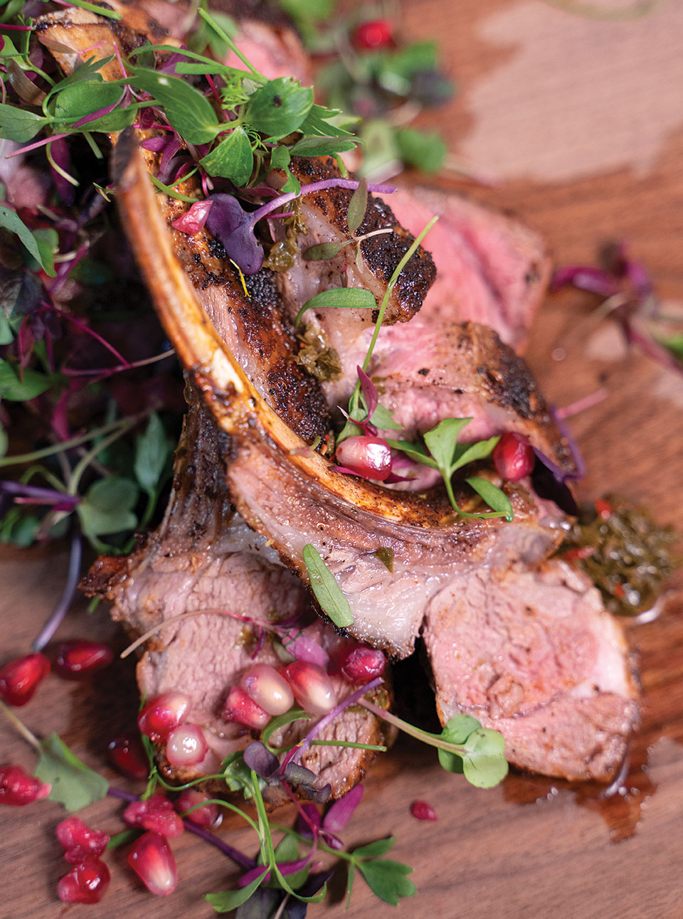 baked spiced lamb chops and chimichurri recipe the rose south park san diego