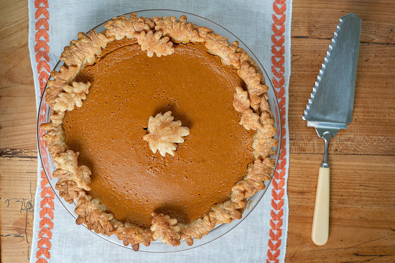 yam pie sweet potato pie thanksgiving pumpkin pie with leaf motif pie crust