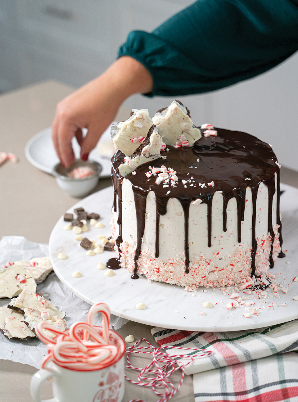 holiday cakes peppermint bark layer cake