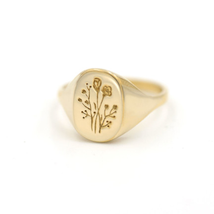 plant-gift-guide-Wildflower-Signet-Ring