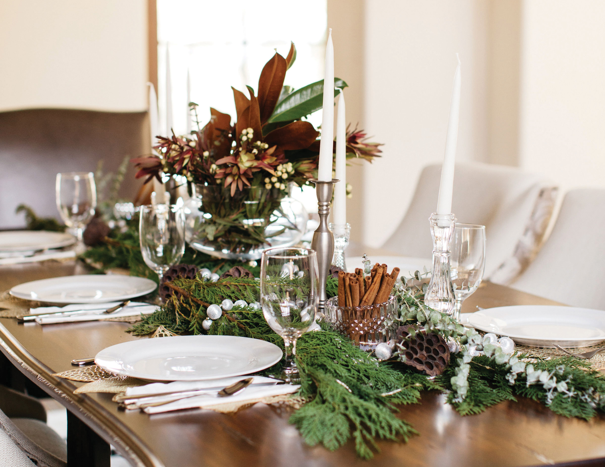 holiday decor pro tablescape centerpiece table setting christmas