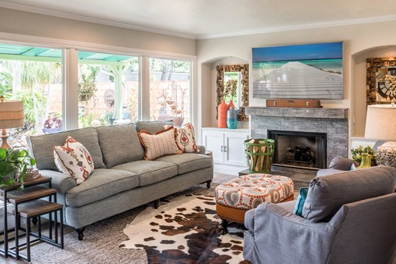Before U0026 After: Pops Of Color Enliven A Living Room   San Diego Home/Garden  Lifestyles