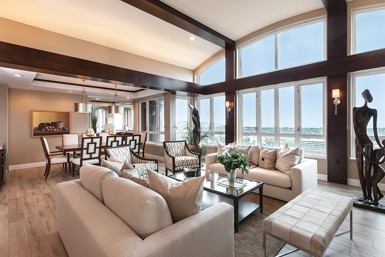 Keri Designed The Living Room Around The Sculptures That Elaine Retained  From Her Prior Home. The Room Features Expansive Views Toward The Ocean And  Mount ...