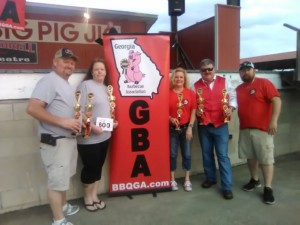 Winners of the Dilly Dally in Dooly BBQ Competition