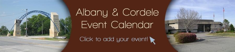 Albany Cordele County Calendar Header